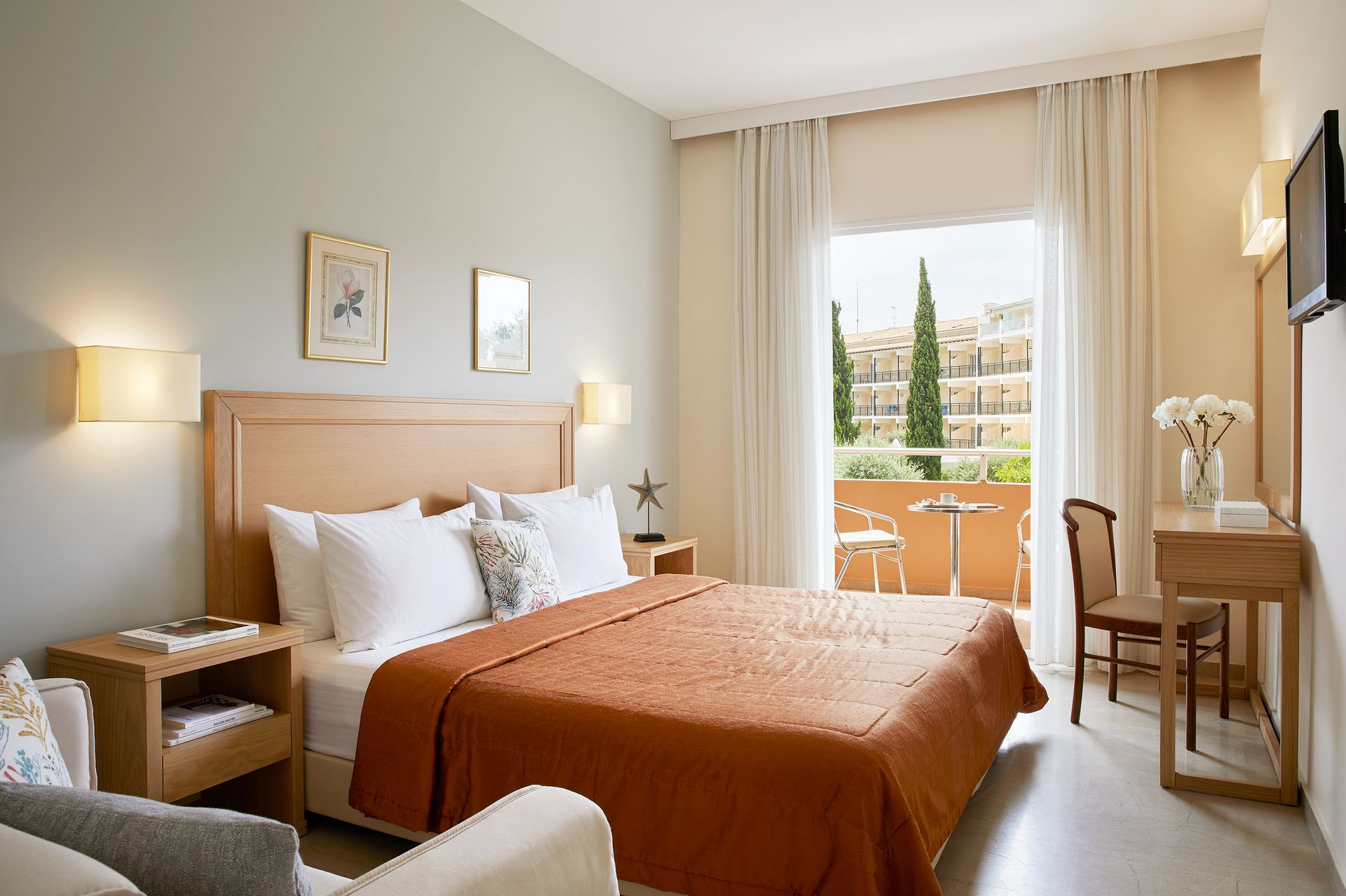 Standard Doppel-/Zweibettzimmer Gartenblick